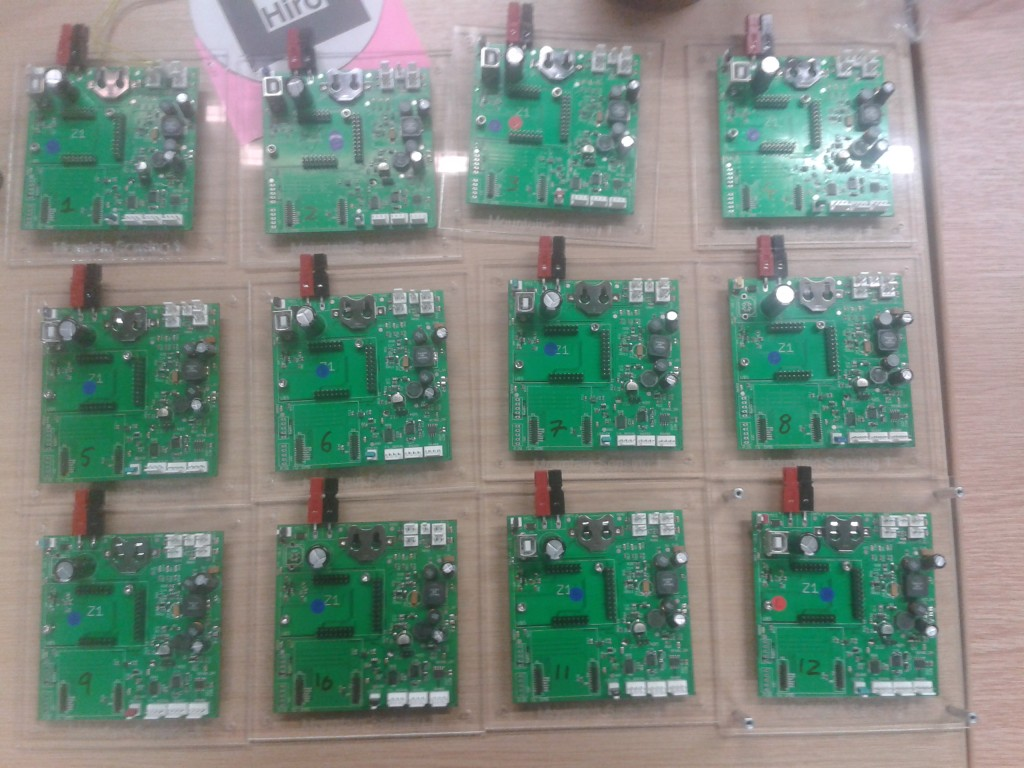 The main PCBs during testing